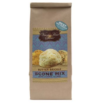 Retail package of Butter Brickle Scone Mix