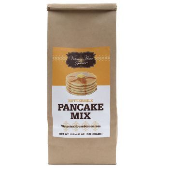 Retail package of of buttermilk Pancake Mix