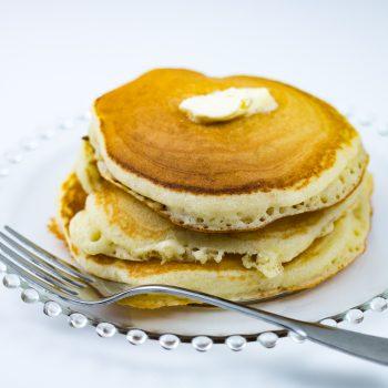 Buttermilk pancakes made with buttermilk pancake mix