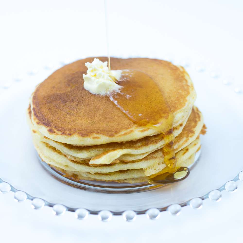 cornmeal pancakes made with cornmeal pancake mix