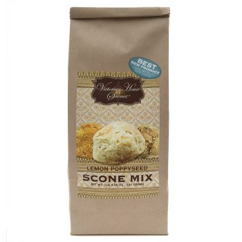 Retail package of Lemon Poppyseed Scone Mix
