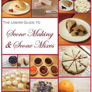 Cover of User's Guide to Sconemaking; cover has a montage of photos showing various steps in the process of making scones