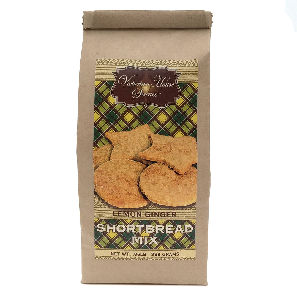 Package of Lemon Ginger Shortbread Cookie Mix